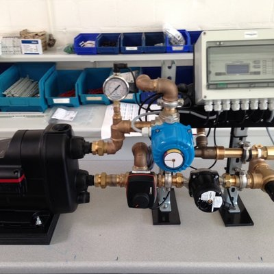 FERMANOX® SAR-Prototyp mit Förderpumpe, Sauerstoffinjektor und Regelungseinheit zur unterirdischen Entarsenierung