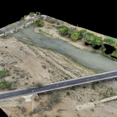 Digitales Oberflächenmodell am Wehr Oxford, ZA, Pix4Dmapper
